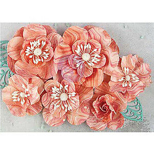 NEW Prima Marketing Flowers - Quartzite 1.25 Inch  To 2.5  Inch 6 Pack