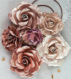 NEW Prima Marketing Flowers - Rose Dream 1.25 Inch  To 2.5  Inch 6 Pack