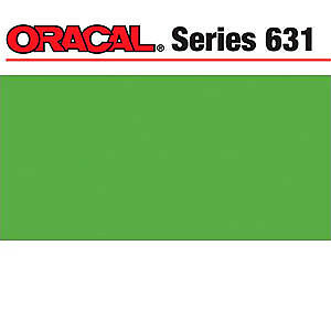 NEW Oracal 631 Matte Adhesive Vinyl 12In. X24in.  Sheet - Lime Tree Green