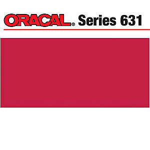 NEW Oracal 631 Matte Adhesive Vinyl 12In. X24in.  Sheet - Red