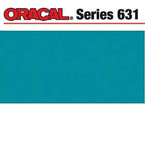 NEW Oracal 631 Matte Adhesive Vinyl 12In. X24in.  Sheet - Turquoise Blue