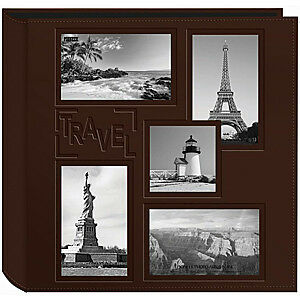 NEW Pioneer  - Sewn Embossed Collage Frame 5-Up Photo Album 12In. X12in.  Travel