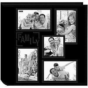 NEW Pioneer Sewn Embossed Collage Frame 5-Up Photo Album 12In. X12in.  Family