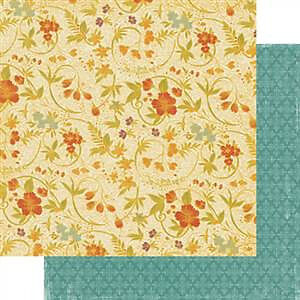 Teresa Collins - Fabrications Canvas - Floral Garden 12X12 D/Sided Paper  (Pack