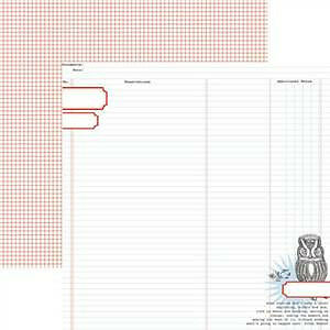 Teresa Collins - Stationery Noted - Owl Ledger 12X12 D/Sided Paper  (Pack Of 10)
