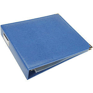 NEW We R Classic Leather 3-Ring Album 12X12 Country Blue