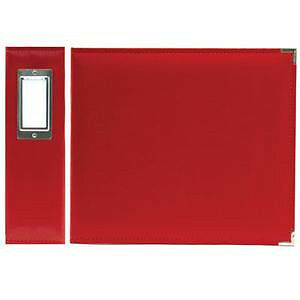 NEW We R Classic Leather Ring Photo Album 8X8 - Real Red
