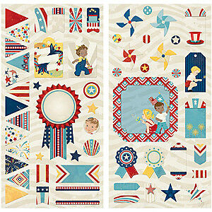 NEW Bobunny - Firecracker Self-Adhesive Chipboard 12In. X6in. Sheets 2 Pack
