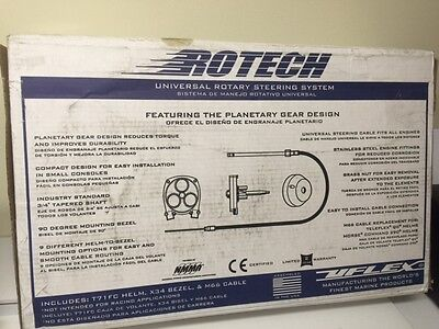 NEW Uflex Rotech 10' Rotary Quick Steering System for Boat (Helm, Bezel, Cable)