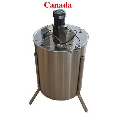 Electric 4 Frame 304 Stainless Steel Honey Extractor With Stand Beekeeping NEW