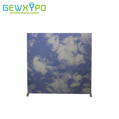 8ft*8ft Square Corners Exhibition Display Wall With Single Side Printed Banner