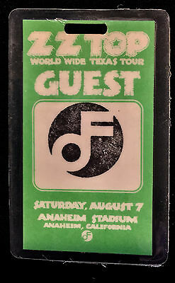 ZZ Top - Guest Laminate Backstage Pass - 1976 World Wide Texas Tour