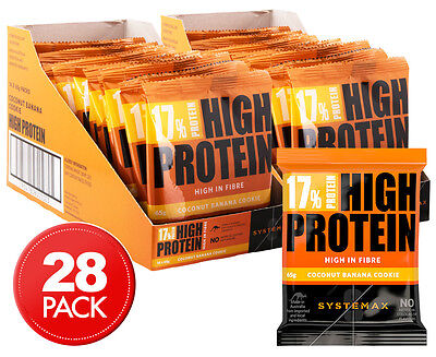 2 x Systemax High Protein Cookies Coconut Banana 65g