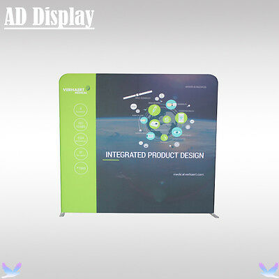 200*200cm Advertising Easy Fabric Display Stand With Single Side Printed Banner