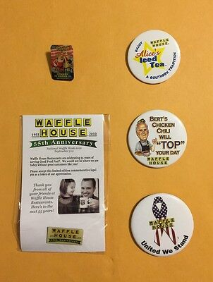 Collectable Vintage Waffle House Pin Lot 13