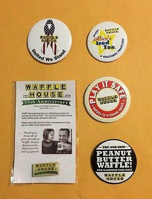 Collectable Vintage Waffle House Pin Lot 3