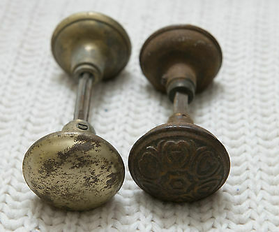 vintage antique door knobs handle parts ornate victorian