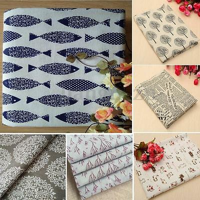6 Styles Coton Lin Tissu Coupons Patchwork Scrapbooking Assorti Couture 50x150cm