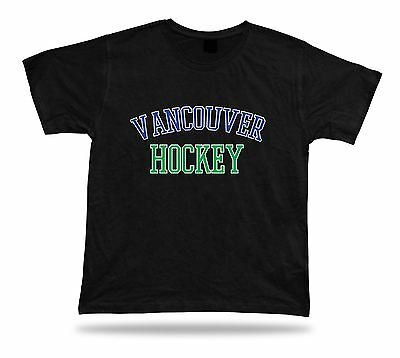 VANCOUVER HOCKEY t-shirt tee blue green white BC CANADA ice apparel winter
