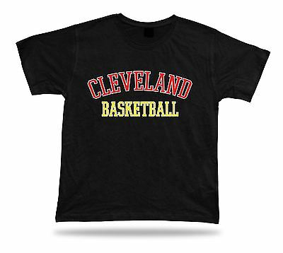 Cleveland USA BASKETBALL t-shirt tee warm up style court side design