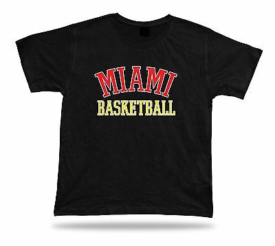 Miami USA BASKETBALL t-shirt tee warm up style court side design