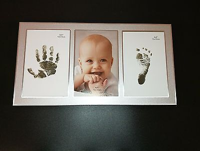 Aluminium Newborn Baby photo frame - Display baby photo and Foot & Hand Print