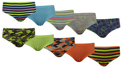 Boys Teen's 5 Pack 100% Cotton Briefs underpants Age 7-8 9-10 11-12 13 years