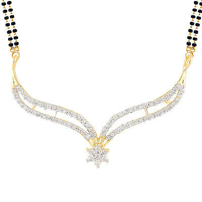 Indian Mangalsutra Jewelry 22 K Black beads Gold Plated (M018)