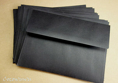Envelopes Black 5x7 Size  - 133mm x184mm choose quantity  x10, x50, x100
