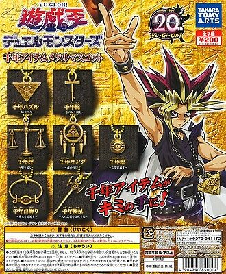 Takara Yu-Gi-Oh Duel Monsters Millennium Item Metal Mascot Completed Set 7pcs