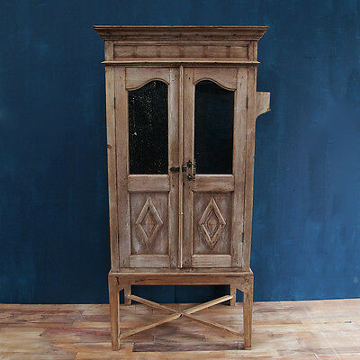 Antique Cabinet Cupboard on Stand, Boho, French,