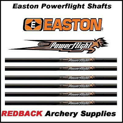 12 Easton Powerflight 340 spine arrow SHAFTS for Archery or Bowhunting NEW