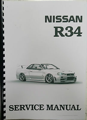 Nissan R34 Skyline Service Data Spec / Trouble Diagnostic Service Manual