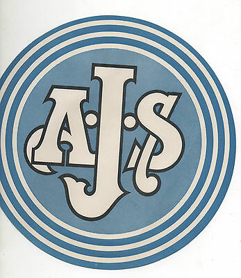 Vintage Ajs Motorcycle Dealers Window Sign - Amc New Old Stock