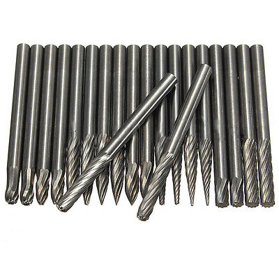 """1/8"""" Tungsten Carbide Cylinder Cutter Burr Drill Rotary Metal Trimming Smoothing"""