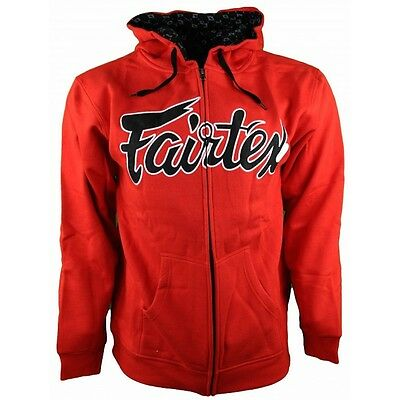 FAIRTEX SWEATSHIRT/HOODIE - FHS12 -100% COTTON - RED -ALL SPORTS and CASUAL WEAR
