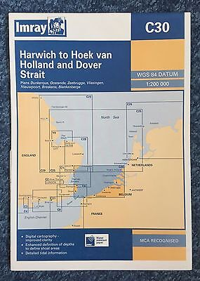 IMRAY Nautical Chart Map C30 - Harwich to Hook of Holland - Dover Strait