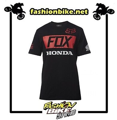Fox T-Shirt Honda  Basic Standard Tee Black Taglia M