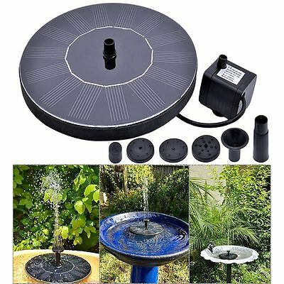 Solar Powered Water Panel Power Fountain Pump Outdoor For Pools Garden Ponds