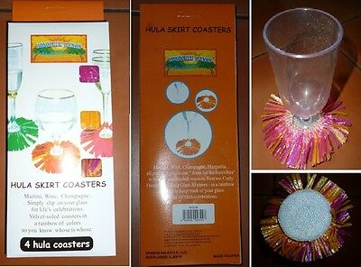 HULA SKIRT COASTERS - 4 coasters per Packet. 67 Packs Available.