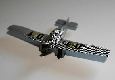Vintage Schuco Junkers F13 Germany Silver Diecast Military Aircraft Plane Rare