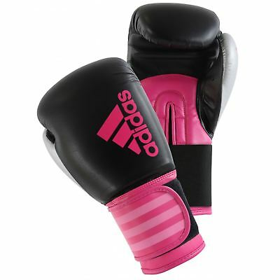 Adidas Hybrid 100 Woman's 6oz/10oz Pink & Black Boxing Gloves Sparring Boxercise