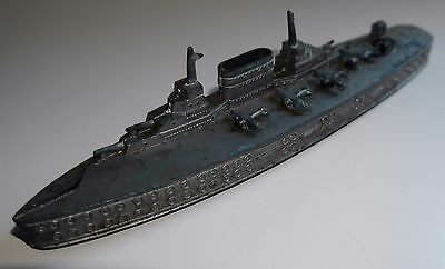 VINTAGE CHAD VALLEY WATERLINE AIRCRAFT CARRIER DIECAST SHIP RARE 1930's