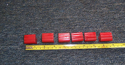 Vintage red bakelite cupboard or drawer pull handles x 6 so Retro used