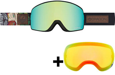 Dragon NFX2 Skibrille chris benchetler signature/smoke gold + yellow red ion