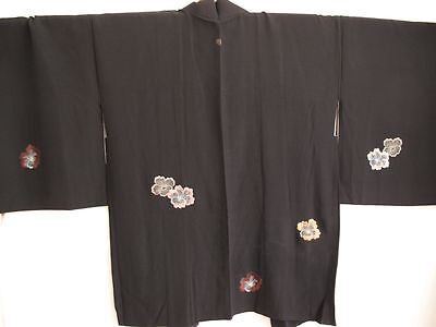 Authentic Japanese Haori Black bloom