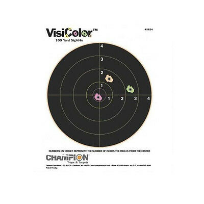 Visicolor High Visibility Paper Targets Bullseye Target Air Rifle Practice 45824