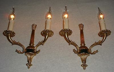 French bronze Empire style sconces with Swan figures France