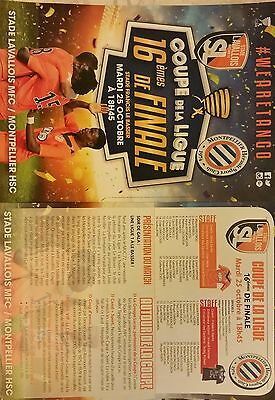 French Football League Cup match programmes