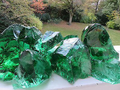 Rare clear emerald green volcan glass odsidian 150€/ kg